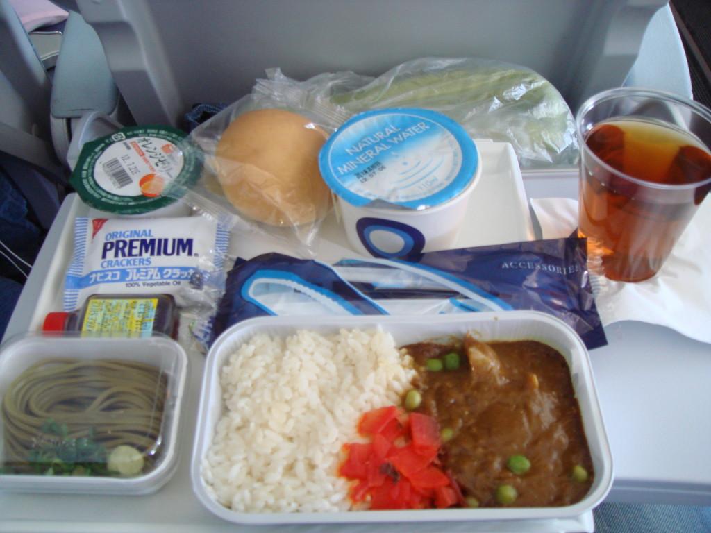 機内食チキンカレー